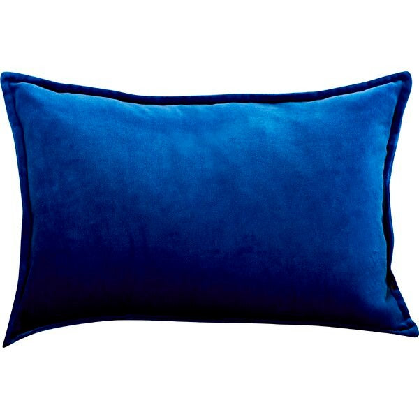 Captain Velvet Lumbar Pillows Blue & Yellow New with Tags