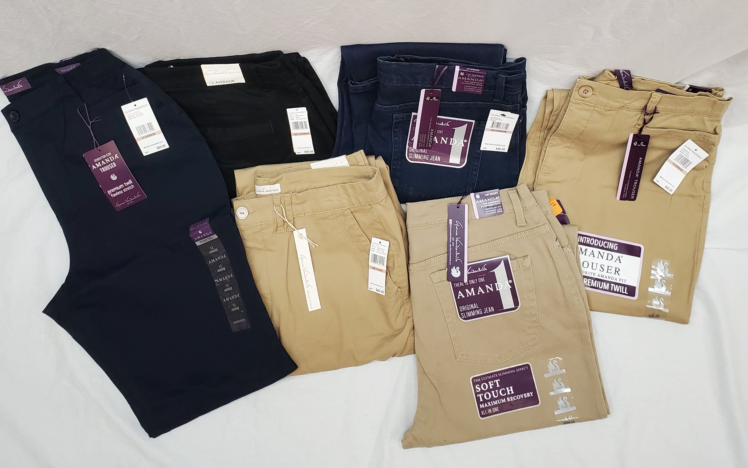 Gloria Vanderbilt Pants Various Sizes