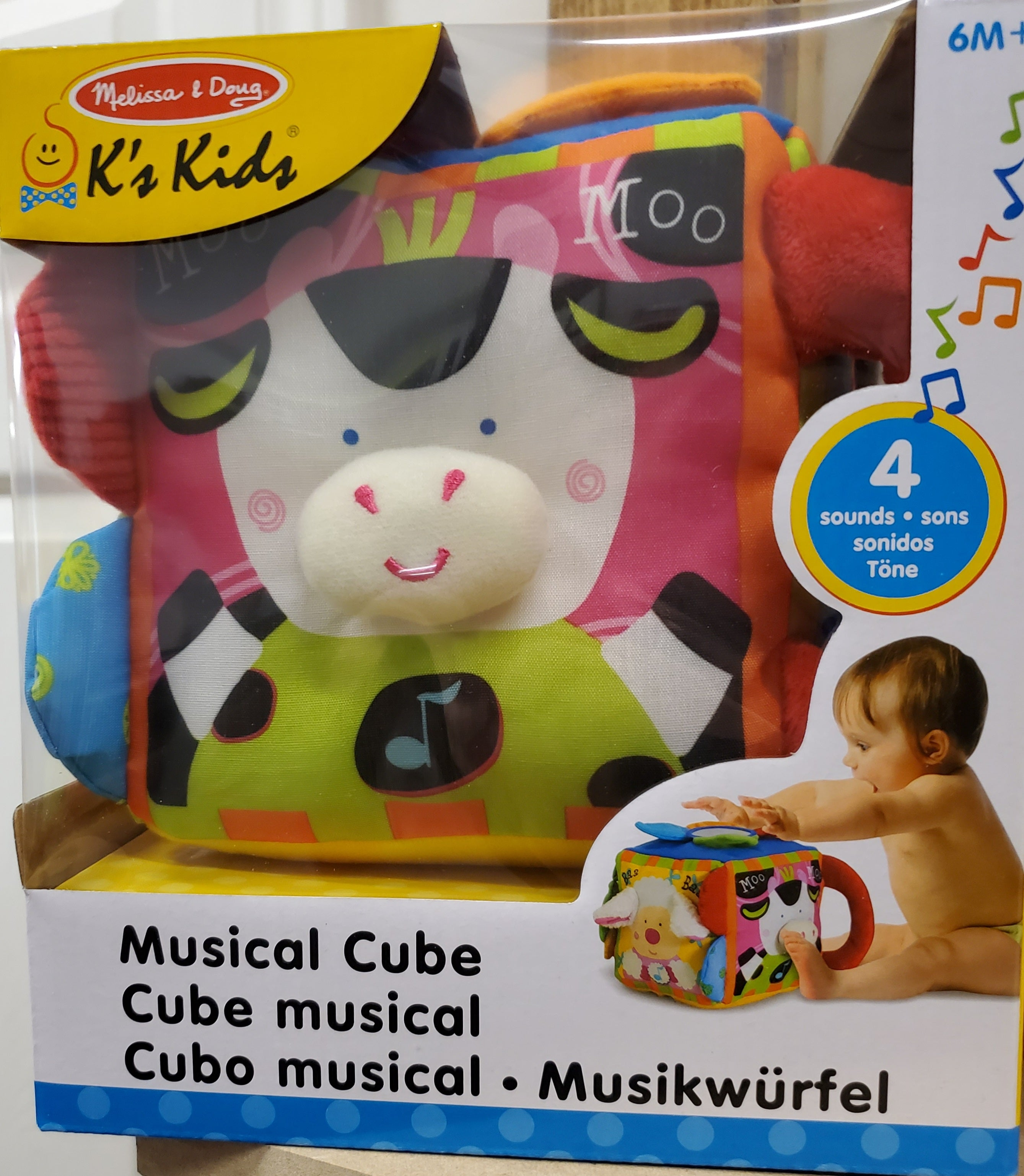 Musical Farmyard Cube Learning Toy - 6Months +