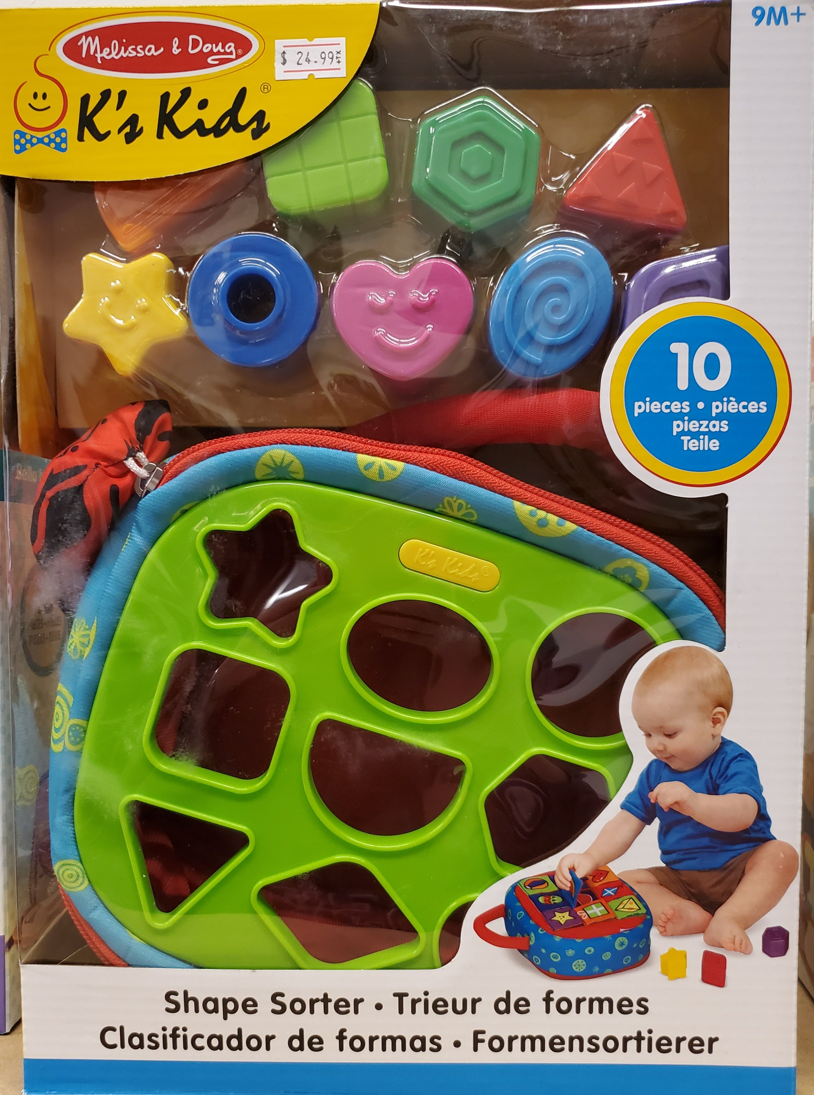 Take-Along Shape Sorter Baby and Toddler Toy - 9 Months +