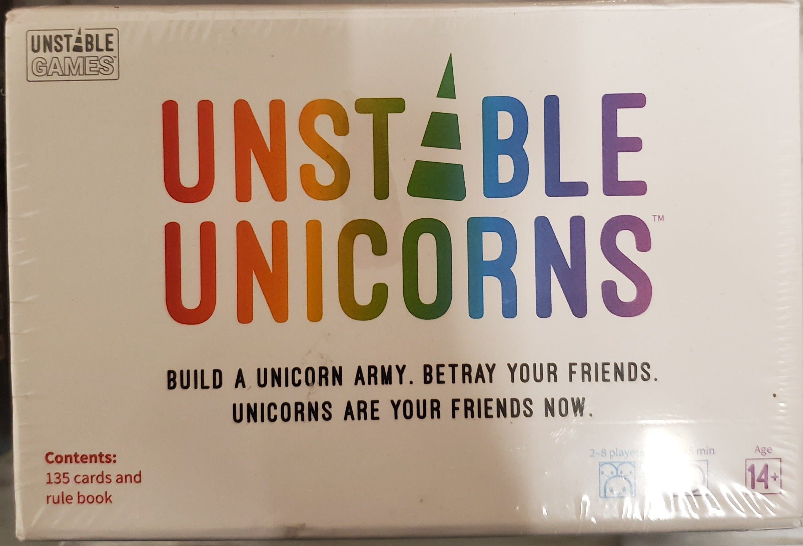 Unstable Unicorn Factory Sealed Build a Unicorn Army. Betray your friends