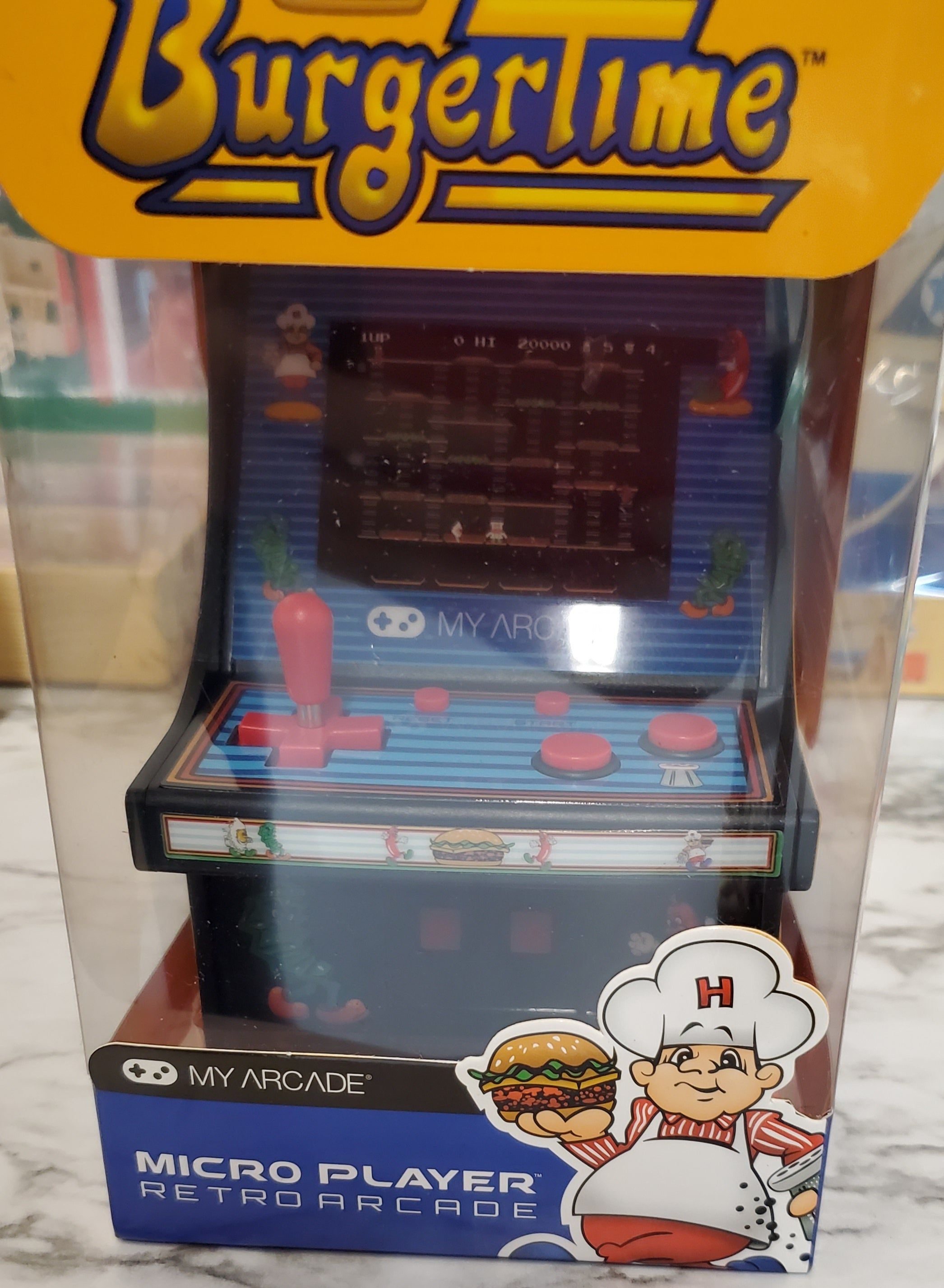 BurgerTime - Micro Player Retro Arcade Game Factory Sealed