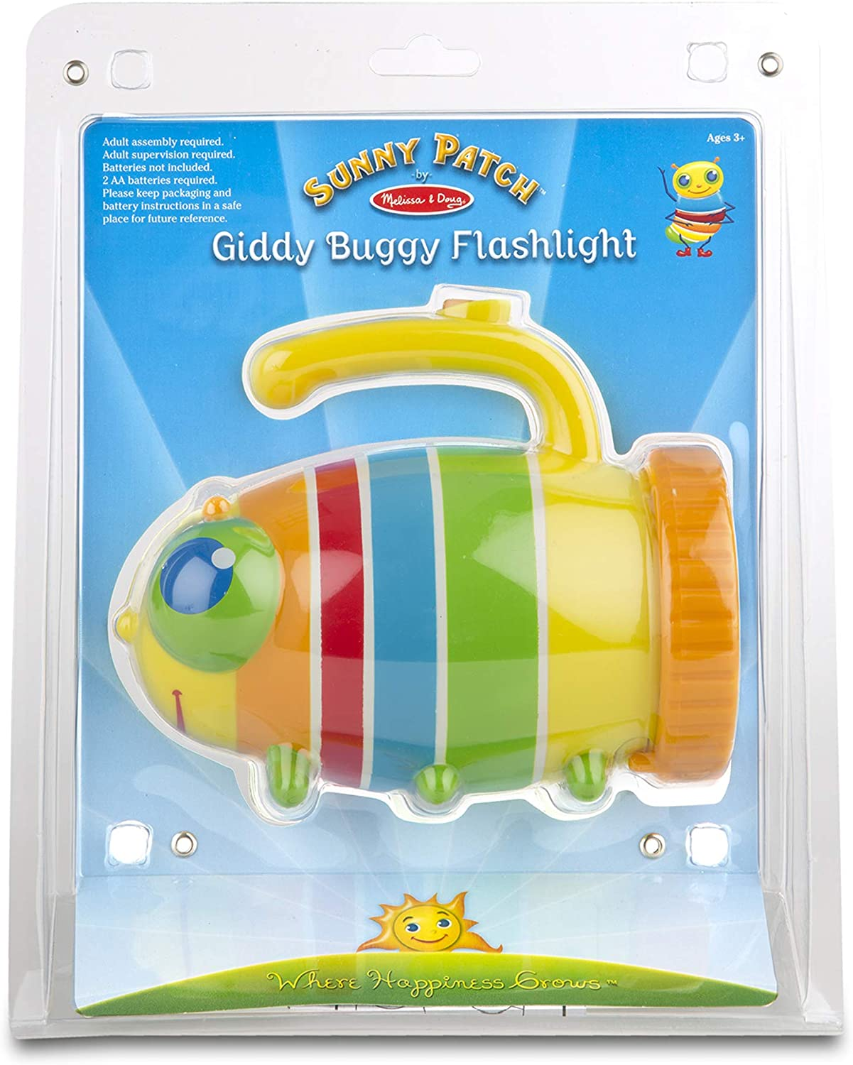 Sunny Patch Giddy Buggy Flashlight with Easy-Grip Handle