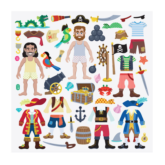 Puffy Stickers Play Set - Pirate