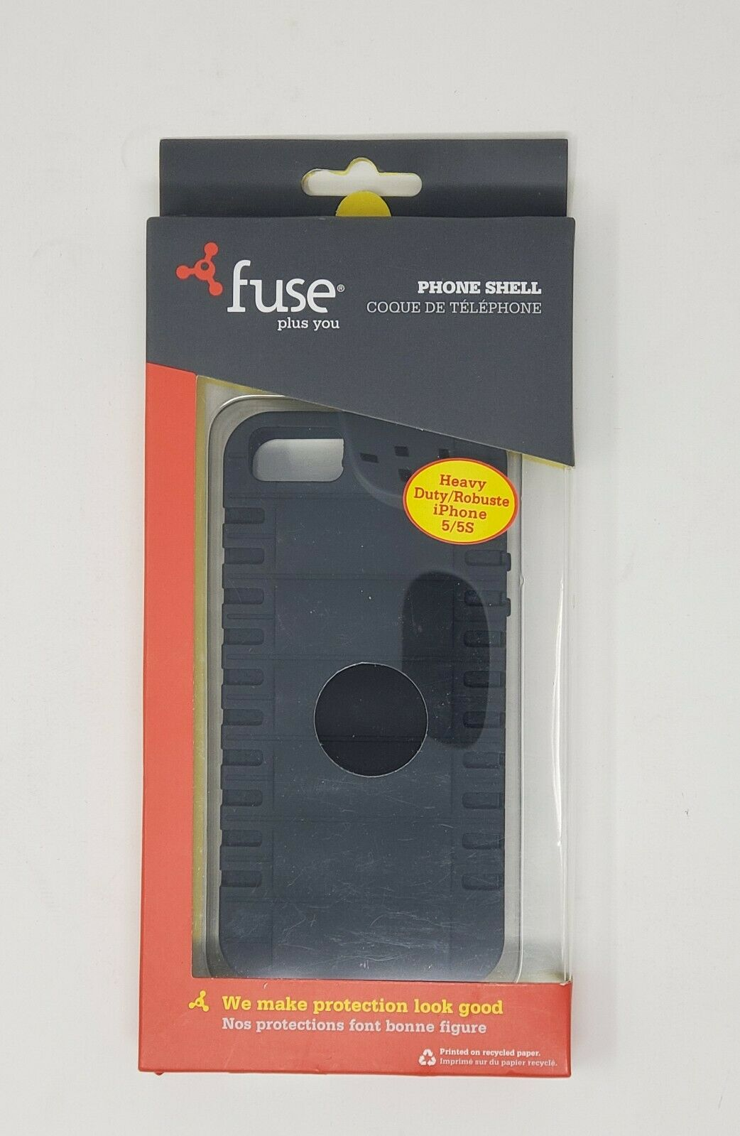 Fuse Black Phone Shell Heavy Duty IPhone 5/5s New in packaging