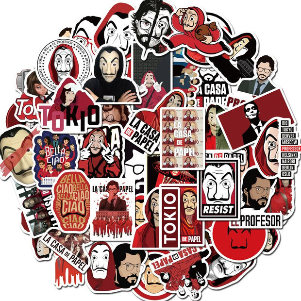 Money Heist La Casa De Papel Stickers (50pcs) - Epic Stickerz