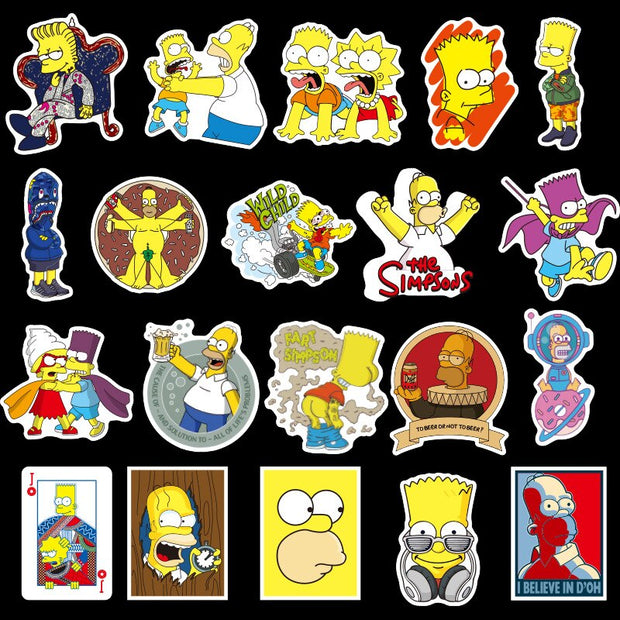 Simpsons Stickers  (100pcs) - Epic Stickerz