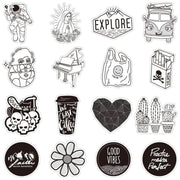 Black and White V1.0 Stickers  (50pcs) - Epic Stickerz