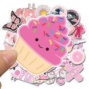 Pink Graffiti Stickers (50pcs) - Epic Stickerz