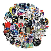 Outer Space Astronaut Stickers pack 50 pieces