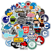 Programming stickers pack 50 pieces