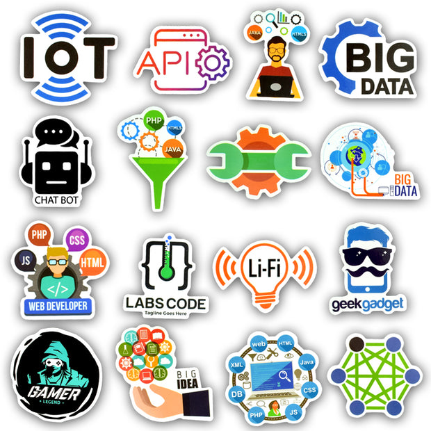 Programmer v2.0 Stickers (50pcs) - Epic Stickerz