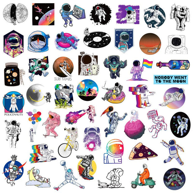 Astronaut Stickers  (50PCS) - Epic Stickerz