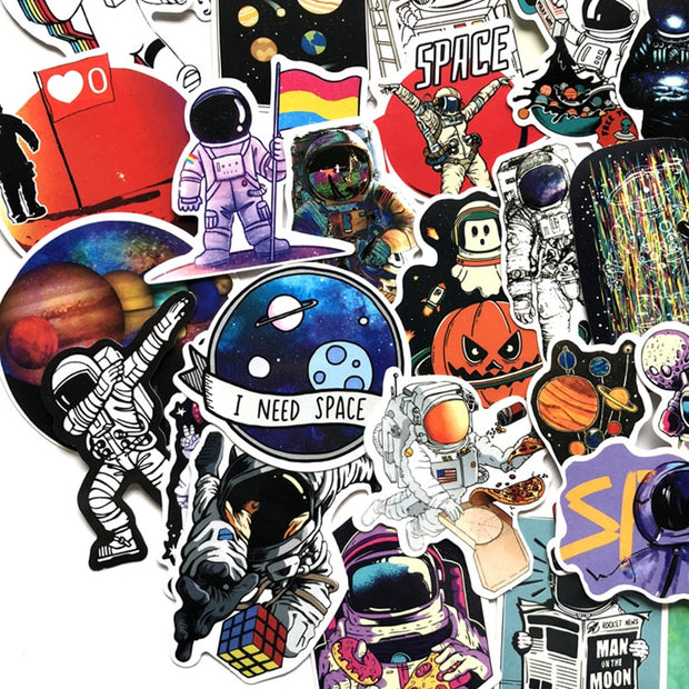 Outer Space Stickers 50 pieces