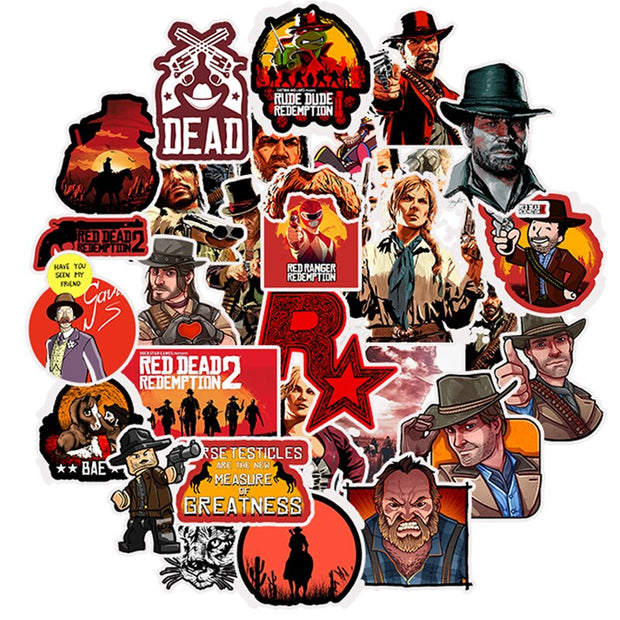 Red Dead Redemption Stickers (A) - Epic Stickerz