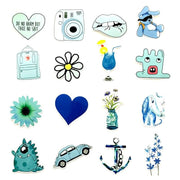Teal Blue Graffiti Cool Stickers (50pcs) - Epic Stickerz