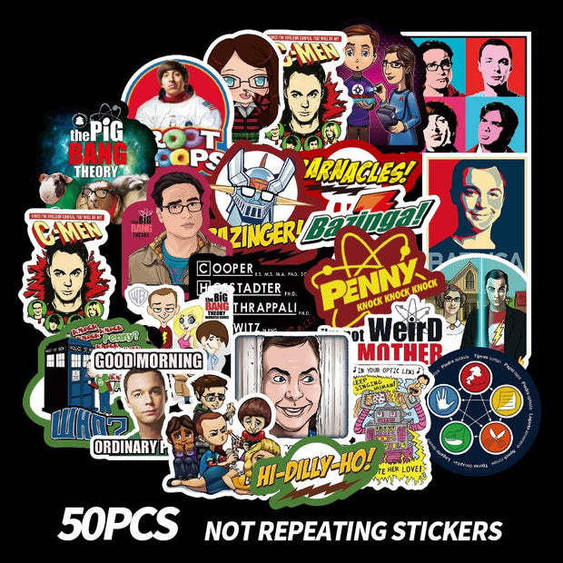 The Big Bang Theory Stickers (50pcs) - Epic Stickerz
