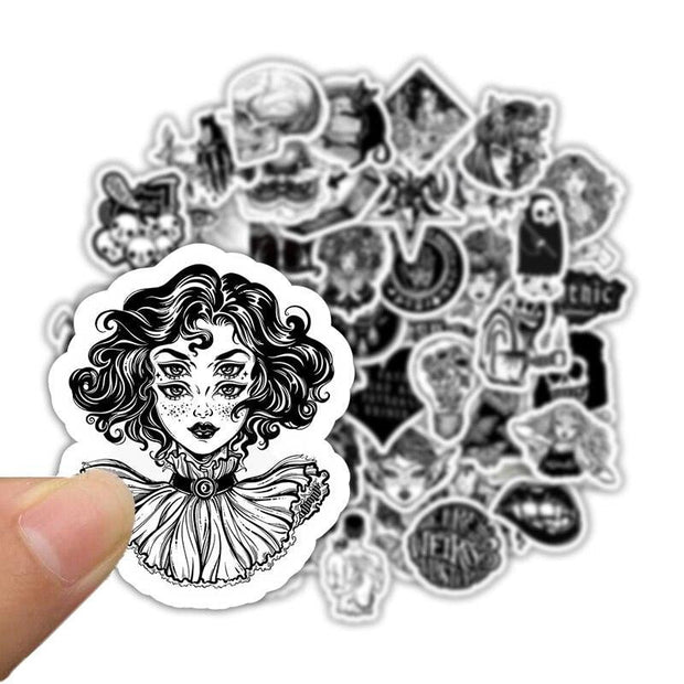 Black and White V2.0 Stickers  (50pcs) - Epic Stickerz