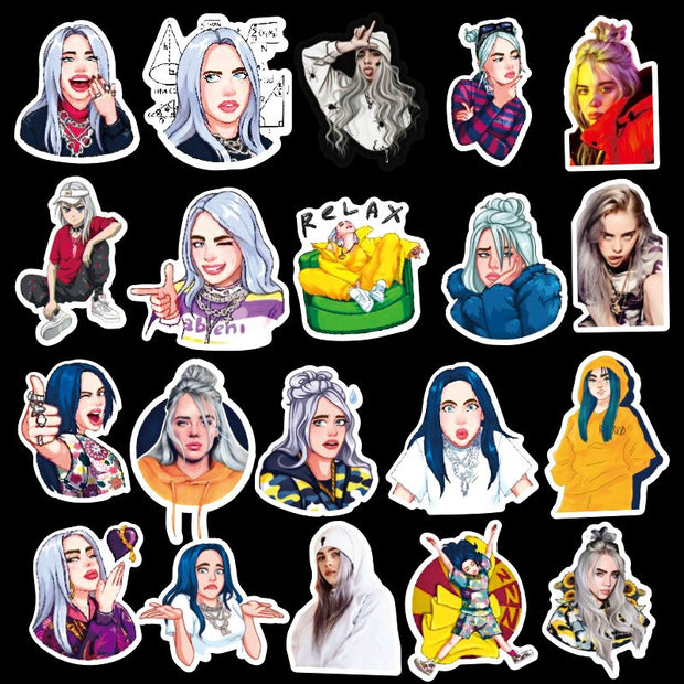 Billie Eilish Stickers (50pcs) - Epic Stickerz