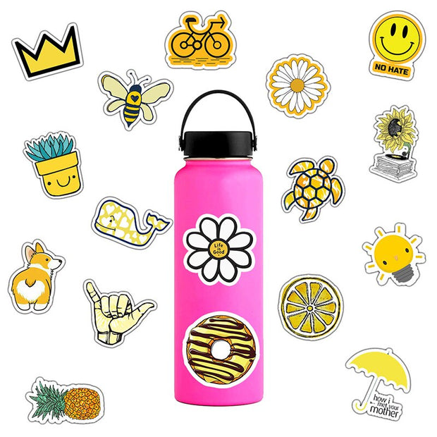 Yellow Graffiti Stickers (50pcs) - Epic Stickerz