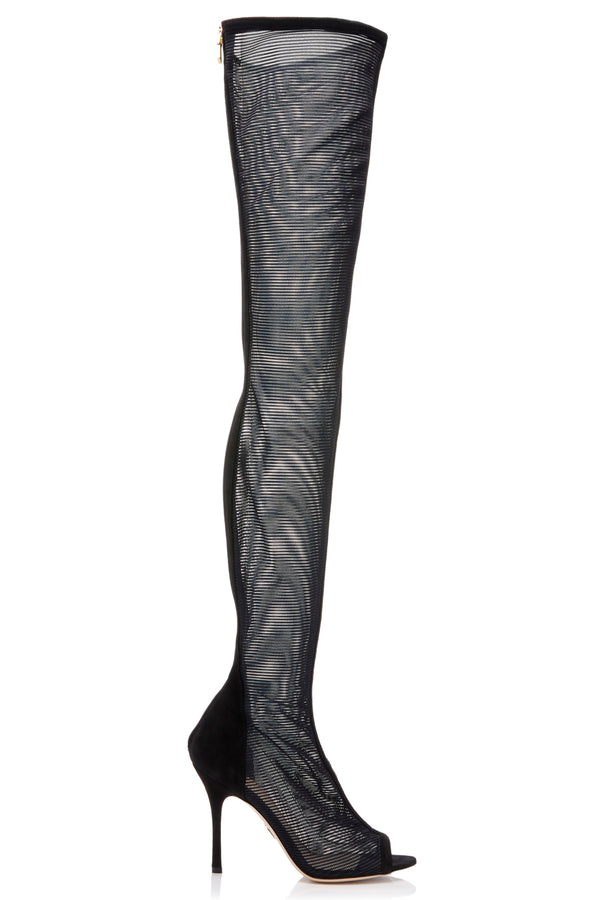 Black Emilio Over-The-Knee Boot  · Final Sale