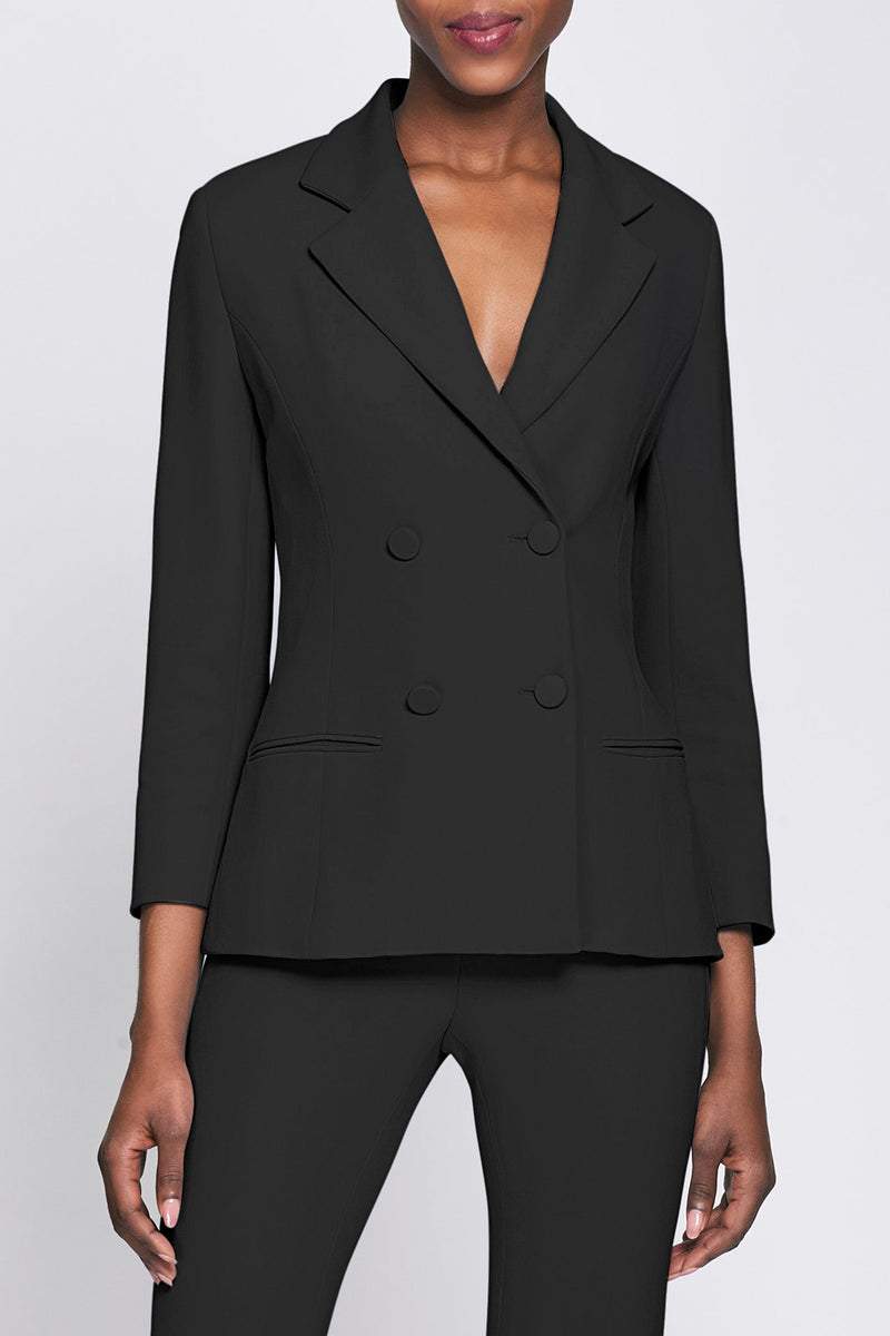 CUSHNIE Black Double Breasted Jacket