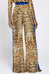 Leopard Color Block Wide Leg Pant · Final Sale