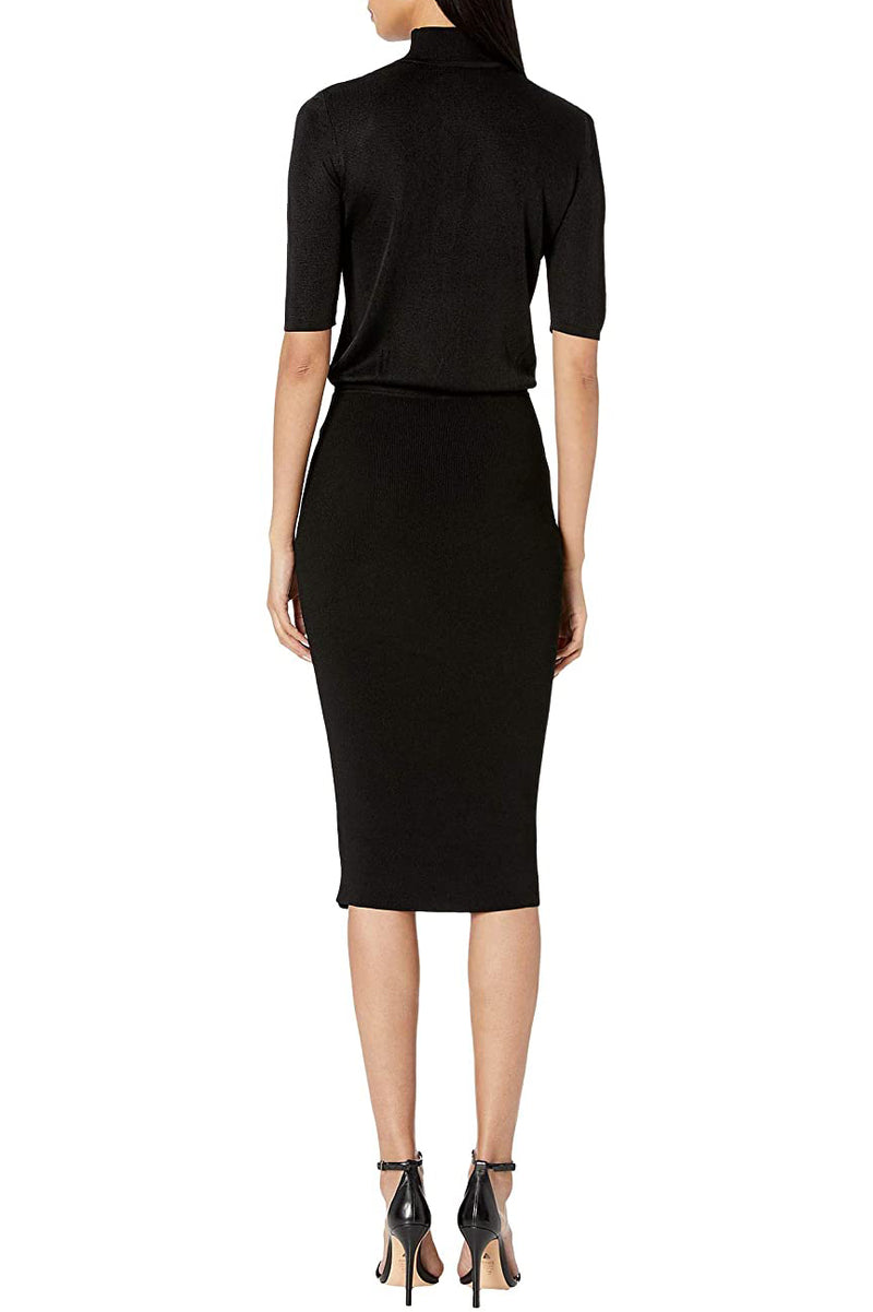 Black Mock Neck Pencil Dress · Final Sale