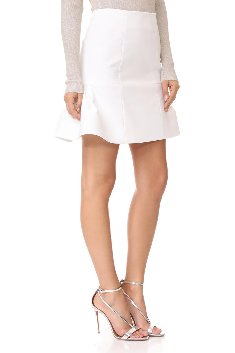 White Fit & Flare Skirt · Final Sale