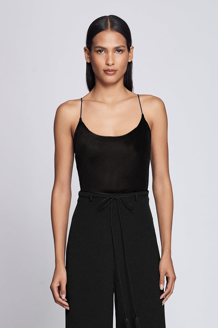 Black Scoop-Neck Bodysuit · Final Sale