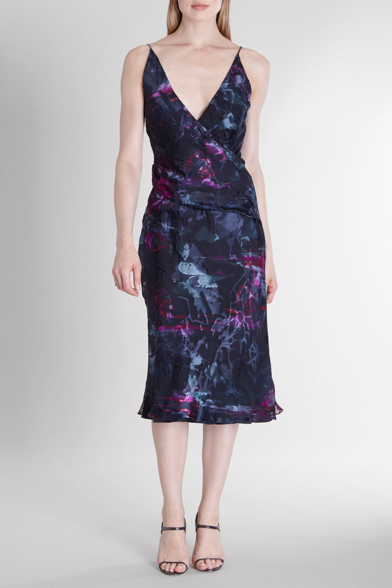 CUSHNIE Melted Floral Vienna Dress