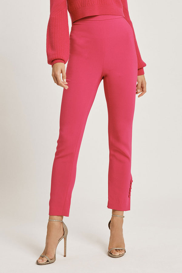 Azalea Stretch Liquid Cady High Waisted Cropped Pant