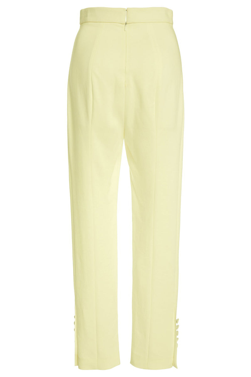 CUSHNIE Celery Stretch Liquid Cady High Waisted Cropped Pant