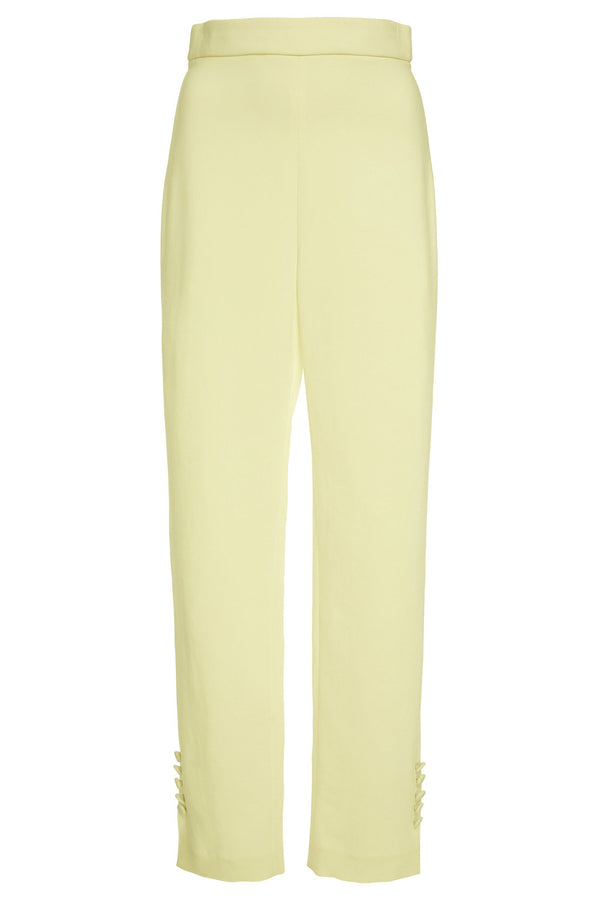 Celery Stretch Liquid Cady High Waisted Cropped Pant