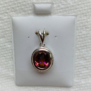 Sterling Silver Pendant Twilight topaz