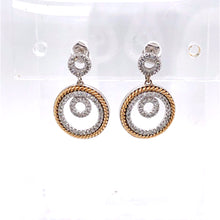 Load image into Gallery viewer, 14 Karat White & Yellow Gold Earrings with Diamonds