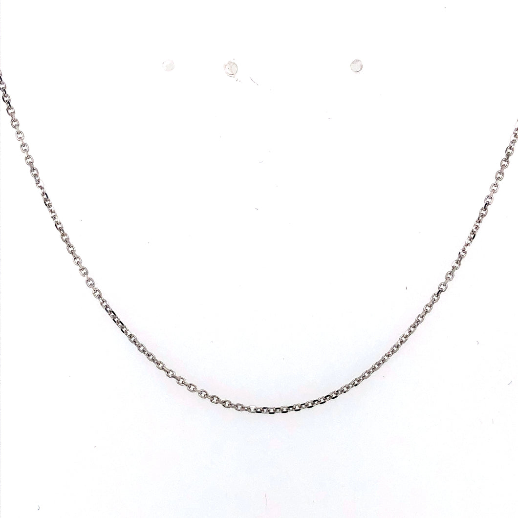 14 Karat White Gold Chain