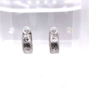 14 Karat White Gold Earrings