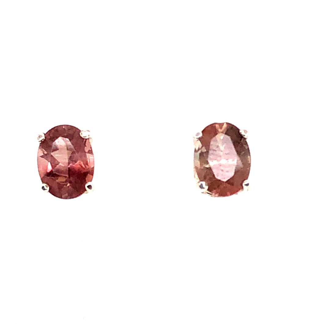 Sterling Silver Earrings with Tourmaline