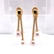 Load image into Gallery viewer, 14 Karat Yellow Gold Earrings with Pearls