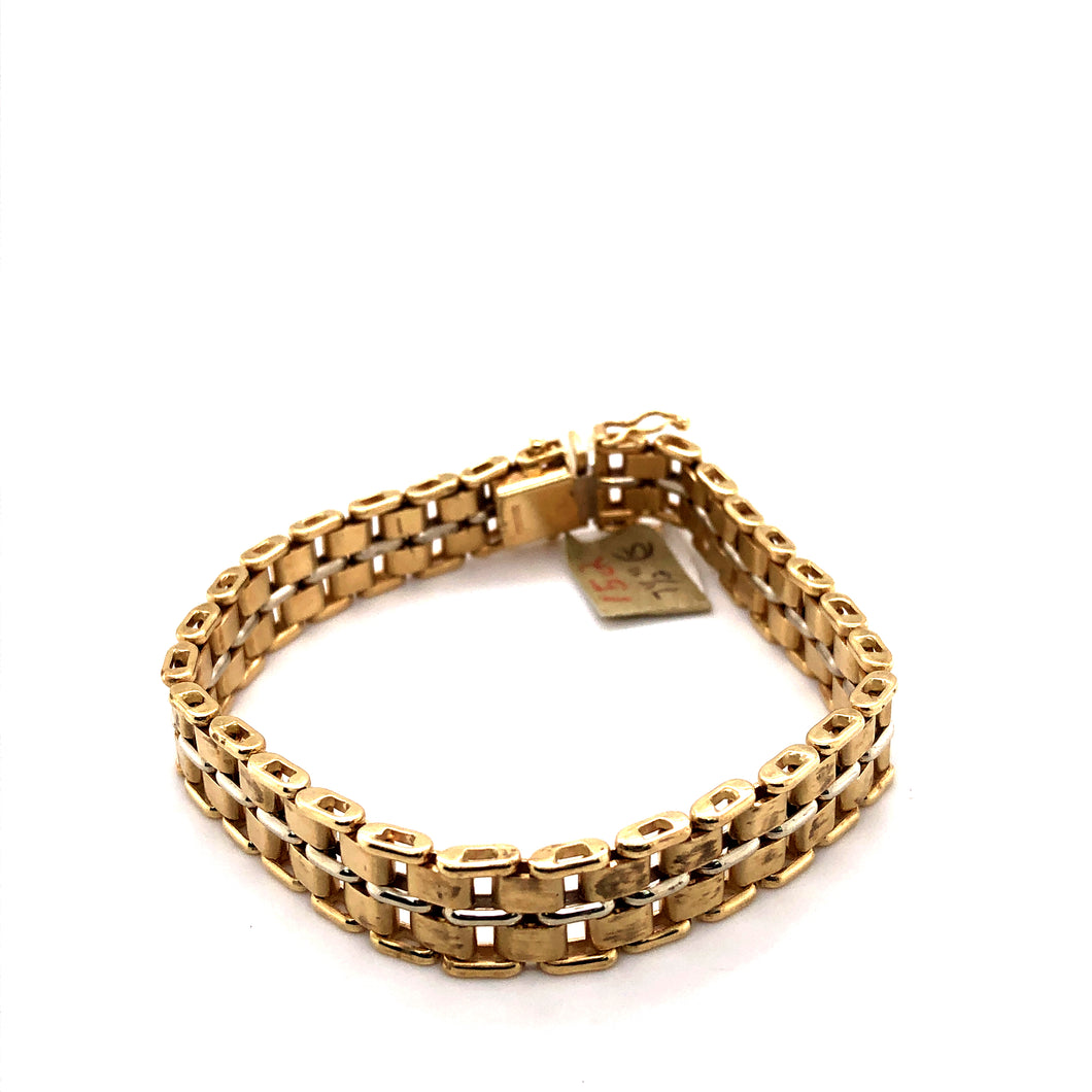 14 Karat Yellow & White Gold Bracelets