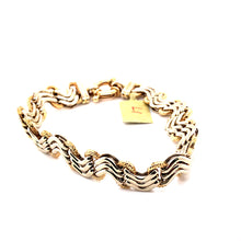 Load image into Gallery viewer, 14 Karat White & Yellow Gold Bracelet
