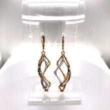 Load image into Gallery viewer, 14 Karat Yellow & White Gold Earrings