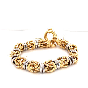 14 Karat White and Yellow Gold Bracelet
