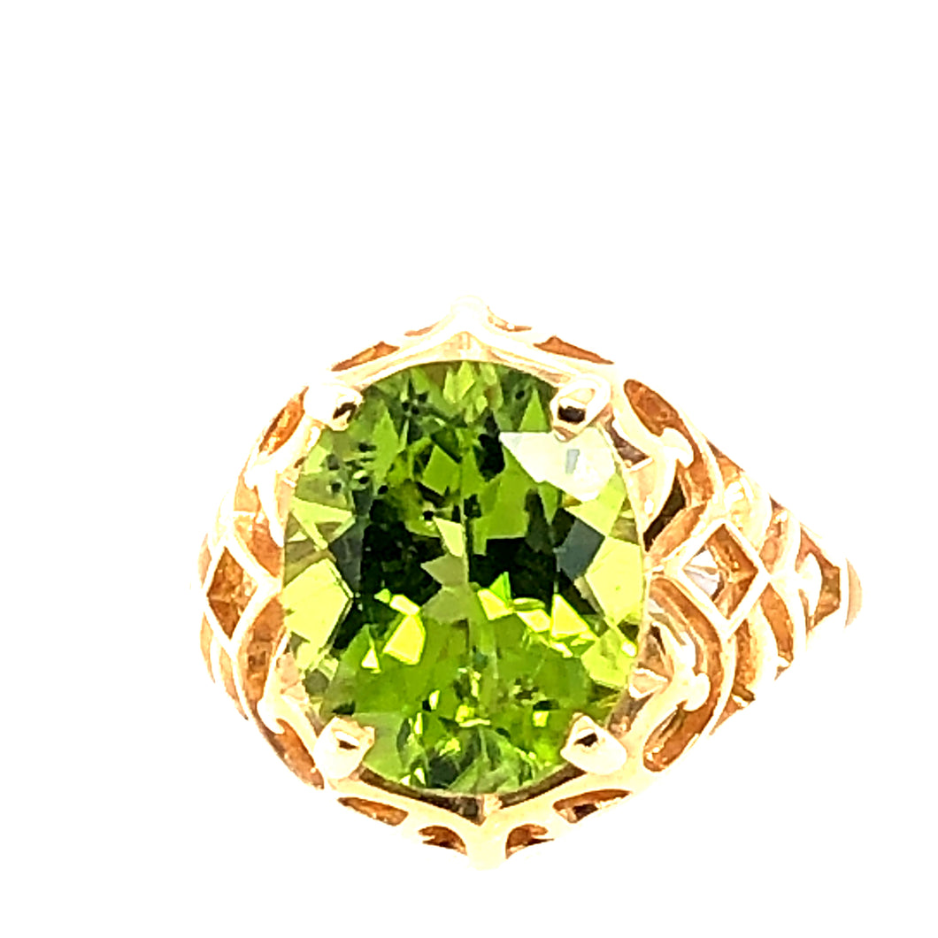 Yellow Gold Ring with Peridot