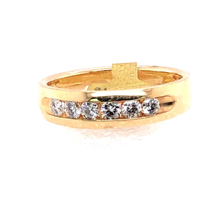 14 Karat Yellow Gold Ring with Diamonds