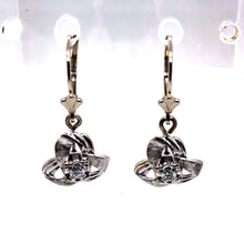Load image into Gallery viewer, 14 Karat White Gold Earrings with Diamonds