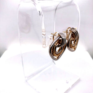 14 Karat Yellow & White Gold Earrings