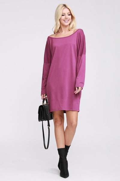 Purple Off Shoulder Dress