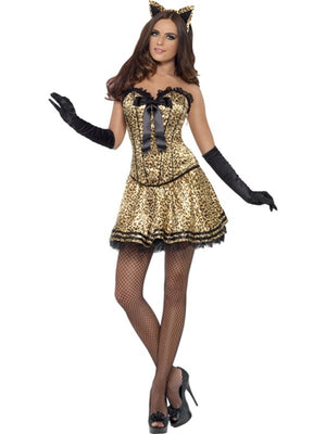 Fever Boutique Kitty Costume - Small Corset - Sexy Bedroom Lingerie